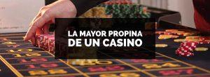 La mayor propina recibida por el croupier de un casino